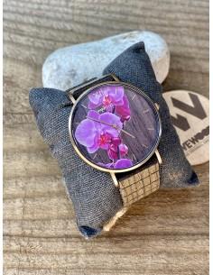 Orologio aurora flower nut